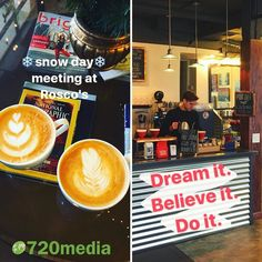 #HappyFriday! Wow what a week. From #LosAngeles to #ManitouSprings we are excited to be working with a variety of businesses including a couple of military bases. Last meeting of the day is here at Rosco's #coffeehouse at 432 West Bijou #ColoradoSprings. It's been gently #snowing all day and this is the perfect place to meet! Here discussing #website #design #socialmedia #emailmarketing. We are happy to partner with organizations to supplement #online #marketing efforts. #coloradolove…