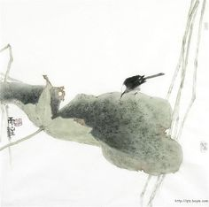 Sumi-e Qin Tianzhu via Lotus Painting, Japan Painting, Ink Painting, Art Chinois, Japanese Drawings, Ink In Water, China Art, Traditional Paintings, Japan Art
