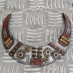 Torque steampunk statement necklace