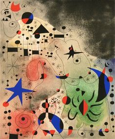 Joan Miró (Spanish Catalan, 1893–1983): Constellation: The Migratory Bird, 1941. Gouache and oil wash on paper, 18-1/8 x 15 inches (460 x 381 mm). Private Collection.