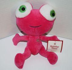 "Dan Dee Stuffed Animal Pink Monster Green eyes plush 9"" Soft Toy 2014 Snowflake #DanDee #Snowflake #StuffedAnimal #Plush #Monster"