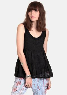 at Threadsence // Black Orchid lace top