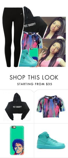 """""""Mix up adidas and Nike 🤙🏼💙💚"""" by jchristina ❤ liked on Polyvore featuring adidas Originals, Casetify and NIKE"""