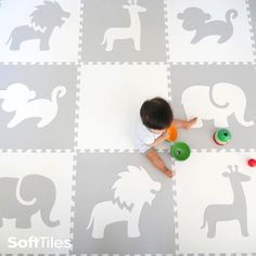 Beautiful, soft, designer play mats for you nursery or playroom. See more at SoftTiles.com