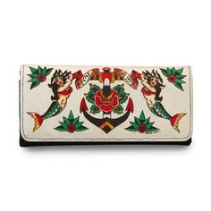 Women's Loungefly Hold Fast Mermaid Tattoo Wallet Off White -- Learn more by visiting the image link.
