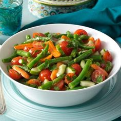 Fresh Green Bean Salad --  LOVE IT -- it's not pasta, it's not potatoes, and it's not dressed in a mayonaise sauce.   I will be making this often.