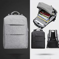 ModernistLook EX Series Water Resistant Backpack with USB Charging Port - Modernist Look