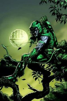Green Arrow. Has a creepy feel to this one.