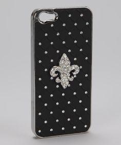 #Fleur De Lis Rhinestone #iphone 5/5s #Cover available at www.shopforbags.com $7.50