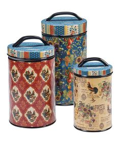 Look at this #zulilyfind! French Country Canister Set #zulilyfinds