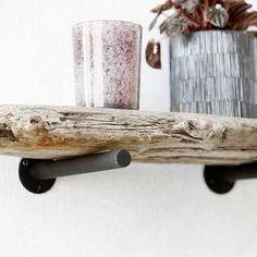 Housedoctor Plankdragers Simple set van 2 zwart metaal ø1,8x18x8cm