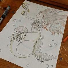 Sirena dibujo #Draw #Art