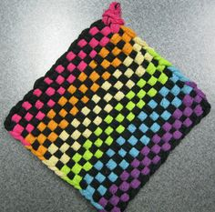 Items similar to Rainbow Glow Woven Potholder on Etsy Potholder Loom, Potholder Patterns, Easy Crafts, Arts And Crafts, Sewing Crafts, Sewing Projects, Weaving For Kids, Loom Craft, Crafts For Girls