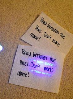 Lees tussen de regels met onzichtbare inkt.