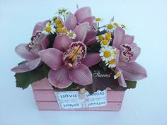 Pink orchids..a special flower arrangment for Mothers Day!!