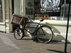 De bakfiets van de Vegetarische Slager in Den Haag.