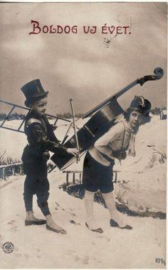 NEW YEAR / BOLDOG UJ EVET, Hungary CHIMNEY SWEEP / MUSIC 1907 RPPC postcard | eBay