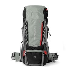OutdoorMaster 70L 5L Internal Frame Backpacker Hiking Backpack with Waterproof Cover * Additional details at the pin image, click it  : backpacking packs