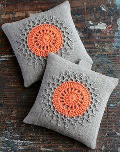 Set bolsitas lavandacrochet adorno2