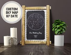 Wedding Gift Personalized Star Poster Mothers Day Gift For Mom Night Sky Map Constellation Print Monochrome CUSTOM Star Map Wall Art Poster Leather anniversary gift third anniversary gift 3rd anniversary gift