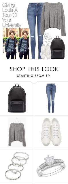 """""""Giving Louis a Tour of Your University"""" by onedirectionimagineoutfits99 ❤ liked on Polyvore featuring PB 0110, Topshop, Madewell, Yves Saint Laurent and Forever 21"""