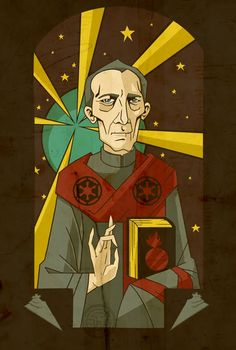 Grand Moff Iconography. Peter Cushing is such a legend!