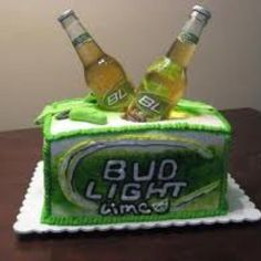Bud light Lime Birthday Cake