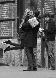 B/W * Outside * Kiss - Couples
