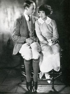Fred Astaire and his sister, Adele Astaire. 1926