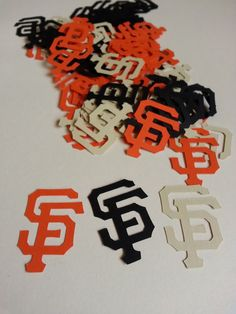MLB Giants JUMBO Table Confetti  100 Pieces by GigisShop805