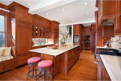 Updated kitchen in an old Victorian home. Interior Design by Elizabeth Taich Design
