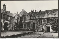 The Courtyard, Cotehele House, Cornwall, c.1960s - RP Postcard