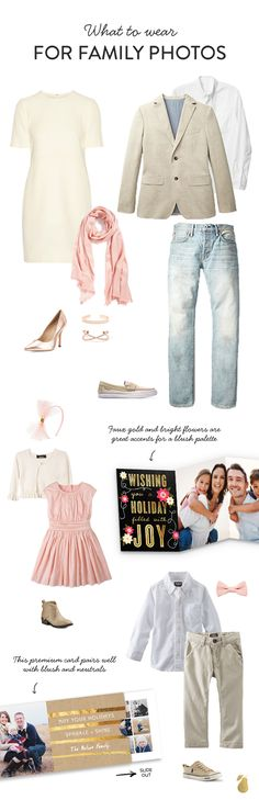 We've crafted the best outfit ideas that show you what to wear for your family photos + paired these outfits with the perfect holiday card! Click to see more outfit ideas.