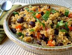 Easy, healthy and delicious cumin scented black beans and quinoa, great for lunch or dinner, 154 calories, 4 Weight Watchers Points Plus, Simply Filling