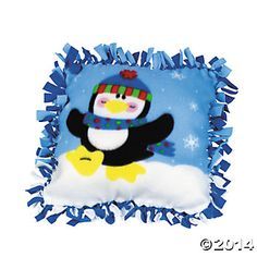 Penguin Fleece Jumbo Pillow Craft Kits - 6 Kits Party Supplies Canada & Halloween Supplies Canada - Open A Party