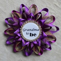 Purple and Gold Baby Shower Corsages Purple by PetalPerceptions