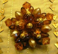 vintage jewels ...  AMBER JEWELED stunning by LandLockedCottage, $20.00