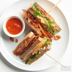 This new take on the classic club sandwich gets subtle heat from harissa sauce.