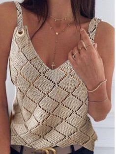 Crochet Clothes, Crochet Top, Homemade, Tops, Women, Fashion, Crochet Coat, Crochet Blouse, Summer Knitting