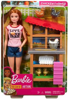 Barbie Chicken Farmer Doll & Playset – Best Baby And Baby Toys Mattel Barbie, Barbie Doll Set, Doll Clothes Barbie, Barbie And Ken, Barbie Stuff, Barbie Playsets, Barbie Accessories, Barbie Furniture, Inspiration For Kids