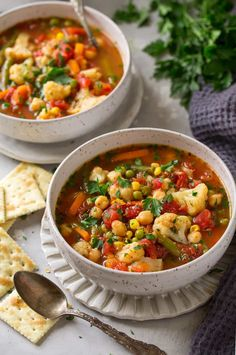 Cauliflower Vegetable Soup