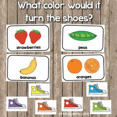 Like most Pre-K kids, my class loves a certain book about a cat and his colorful shoes! These printable cards can be used for a Pete the Cat learning game. Preschool Colors, Preschool Literacy, Preschool Lessons, Literacy Activities, Preschool Ideas, Literacy Bags, Dinosaur Activities, Teaching Colors, Children Activities