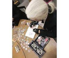 Karl Lagerfeld - drawing with shu uemura eyeshadows