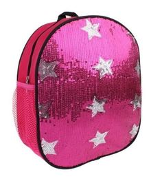 Pink Sequined Backpack
