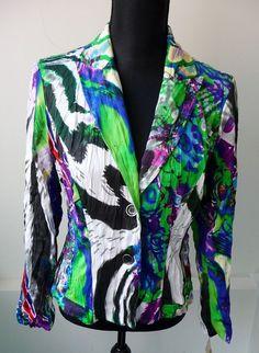 Alberto Makali NWT Multi Color Fitted Jacket Blazer Size 6 Nordstrom Retail $198 #AlbertoMakali #Cadigan #Any