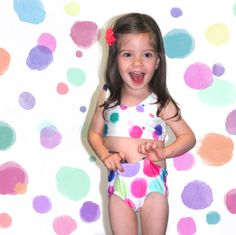 Niñas Bikini Bolas Multicolor
