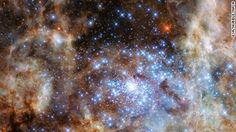 The Hubble telescope has found some of the biggest stars in the universe -- and taken pictures.