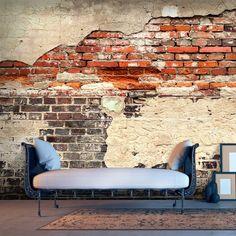 murando - Vlies Fototapete 500x280 cm - Größe Format XXL- Vlies Tapete - Moderne Wanddeko - Design Tapete - Ziegel Ziegelstein f-A-0503-x-b