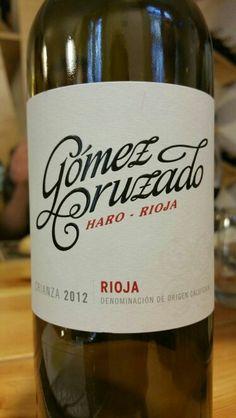 Gómez Cruzado crianza 2012 - DO Ca Rioja - Bodegas y Viñedos Gómez Cruzado (Haro) - Vino tinto con una crianza de 12 meses en barrica de roble mayoritariamente americano - 80% Tempranillo y 20% Garnacha - 14% - 91 PEÑIN