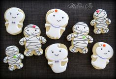 ghosts and mummy cookies by melissa joy